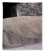 Newgrange Entrance Kerb Fleece Blanket