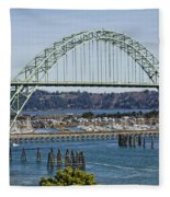 Newport Bridge Fleece Blanket