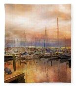 Newport Rhode Island Harbor I Fleece Blanket