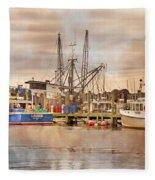 Newport Rhode Island Harbor II Fleece Blanket