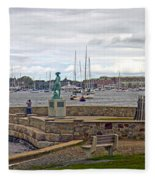 Newport Rhode Island Harbor Ivi Fleece Blanket