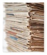 Newspaper Stack Fleece Blanket