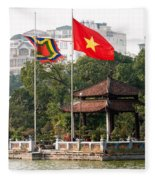 Ngoc Son Temple  01 Fleece Blanket