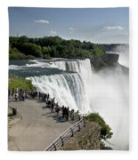 Niagara Falls - New York Fleece Blanket