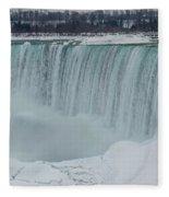 Niagara Falls Canada In Winter Fleece Blanket