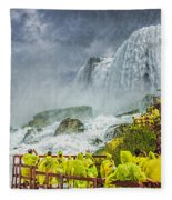 American Falls Niagara Cave Of The Winds Fleece Blanket