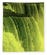 Niagara Falls Closeup Hot Wax Effect Fleece Blanket