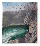 Niagara Falls Gorge Fleece Blanket