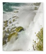 Niagara Falls On The Rocks Fleece Blanket