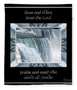 Niagara Falls Seas And Rivers Bless The Lord Praise And Exalt Him Above All Forever Fleece Blanket