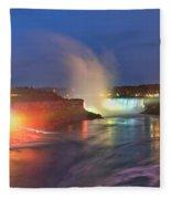 Niagara Falls Ultra Wide Panorama Fleece Blanket