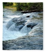 Niagara River Rapids Above Niagara Falls 2 Fleece Blanket