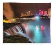 Niagara Starbust Skyline Panorama Fleece Blanket