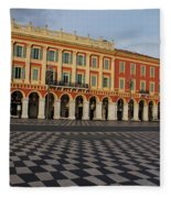 Nice France - The Cheerful Colors Of Place Massena Fleece Blanket