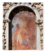 Niche Fresco In Real Alcazar Of Seville Fleece Blanket
