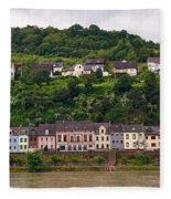 Niederheimsbach Am Rhein Fleece Blanket