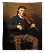 Niel Gow - Violinist And Composer Fleece Blanket