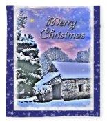 Christmas Card 28 Fleece Blanket