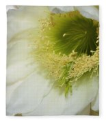 Night Blooming Cereus Cactus Fleece Blanket