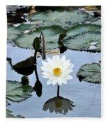 #night Blooming Water Lily Fleece Blanket
