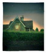 Night Cottage Fleece Blanket