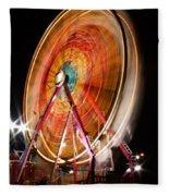Night Ferris Wheel 3 Fleece Blanket