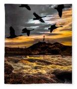 Night Flight Fleece Blanket