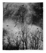 Burst Of The Night Flight Fleece Blanket