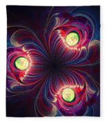 Night Flower Fleece Blanket