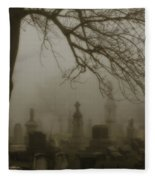Dark Rolling Night Fog Fleece Blanket