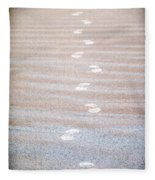Night Beach Sand Footprints Fleece Blanket