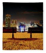 Night In The City Fleece Blanket