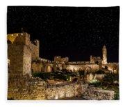 Night In The Old City Fleece Blanket