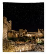 Night In The Old City Fleece Blanket
