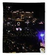 Night In Vegas 2008 Fleece Blanket