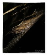 Night Leaves Fleece Blanket
