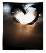 Night Life Love Fleece Blanket