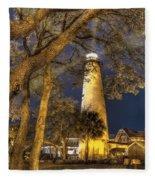 Night Lighthouse Fleece Blanket
