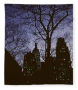 Night Lights Empire State Fleece Blanket