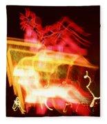 Night Lights Holiday Inn Sign 2 Fleece Blanket