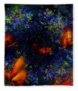 Night Of The Butterflies Fleece Blanket