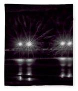 Night Pier Purple Fleece Blanket