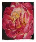 Night Rose Fleece Blanket