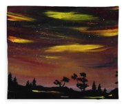 Night Scene Fleece Blanket