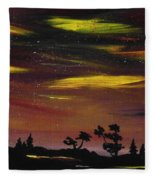 Night Scene Fleece Blanket