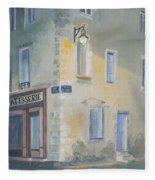 Night Scene In Arles France Fleece Blanket
