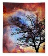 Night Sky Landscape Art By Sharon Cummings Fleece Blanket