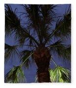 Night Sky Through The Palm Fleece Blanket