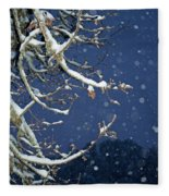 Night Snow Fleece Blanket