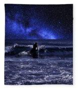 Night Surfing Fleece Blanket